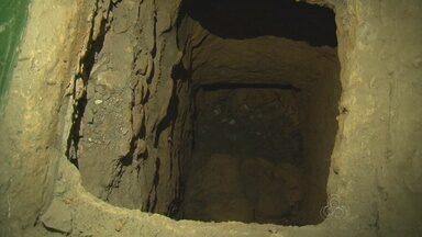 Túnel de 20 metros de comprimento é encontrado em presídio no AM - Detentos teriam fuga planejada neste final de semana.