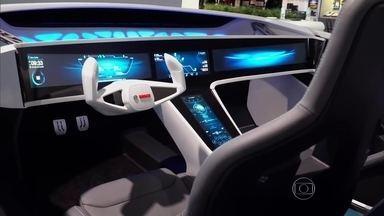 Carros do futuro serão 'recheados' de telas - Carros do futuro serão 'recheados' de telas.