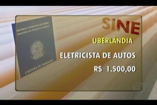 Confira as vagas oferecidas pelo Sine de Uberlândia - Há vaga para eletricista de autos com salário de R$ 1.500 e para montador com remuneração de R$ 1.200.