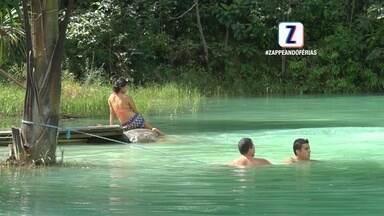 #ZappdeFérias: conheça a lagoa azul de Presidente Figueiredo - Local tem atraído visitantes de vários lugares.