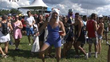 Bloco Babydoll de Nylon reúne milhares de foliões no DF - O bloco Babydoll de Nylon repete o sucesso do ano passado. Para onde você olhava tinha gente chegando. Uma multidão debaixo de um sol escaldante. Mas eles não estavam nem ligando.