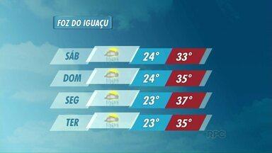 Confira a previsão do tempo para Foz do Iguaçu - O tempo segue instável nos próximos dias.