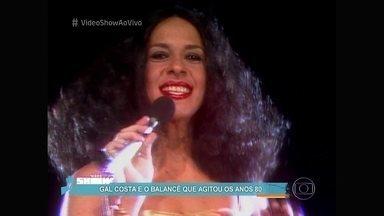 Túnel do Tempo: Gal Costa canta 'Balancê' - Música que agitou anos 80 teve clipe exibido no 'Fantástico' há anos
