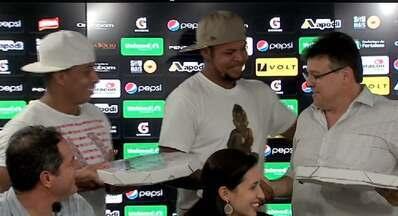 Ceará anuncia novo patrocinador master e Bill e Rafael Costa entregam pizza - Confira as novidades do Alvinegro