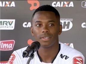 Robinho antecipa visita ao Atlético - Jogador vestiu o uniforme 7 da equipe.