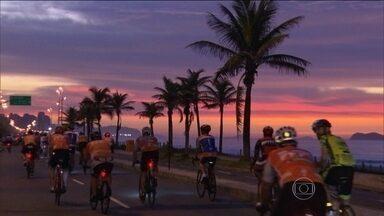 Pista exclusiva para ciclistas é inaugurada no Rio de Janeiro - Trajeto faz parte do percurso da prova de estrada das Olimpíadas.