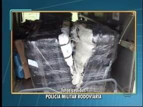 Polícia Rodoviária apreende produtos contrabandeados - Cuecas, batons e celulares estavam entre os itens.