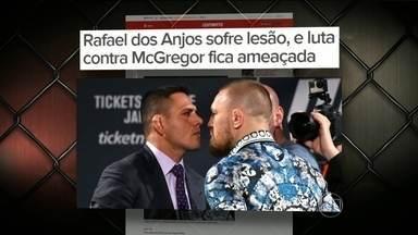 Rafael dos Anjos quebra o pé e a luta contra McGregor deve ser adiada - O confronto estava marcado mara o dia 05 de março.
