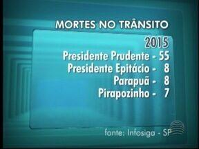 Governo estadual lança sistema para divulgar dados sobre acidentes - Prudente e Santa Mercedes foram as cidades com mais óbitos.