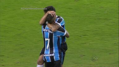 Grêmio vence o Glória e resgata confiança, na Arena - Tricolor saiu atrás no placar, buscou a virada, mas cedeu o empate. Precisou de dois gols nos minutos finais de jogo para selar o 4 a 2.