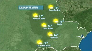Confira a previsão do tempo para Ponta Grossa e região - Frente fria se afasta dos Campos Gerais