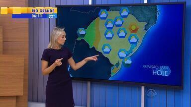 Tempo: chuva pode atingir Sul e Fronteira do RS nessa terça-feira (1) - Assista ao vídeo.