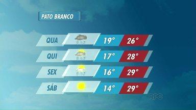 Confira a previsão do tempo para Pato Branco - O tempo segue instável na cidade.