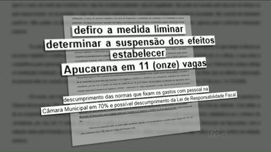 Ministério Público suspende leis que ampliariam número de vereadores em Apucarana - Das 15 vagas aprovadas para o próximo ano, o MP manteve o número atual, 11 vereadores. Os salários também foram mantidos