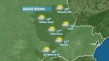 Tempo fica instável nesta quarta-feira - O sol deve voltar, aos Campos Gerais, na sexta-feira.