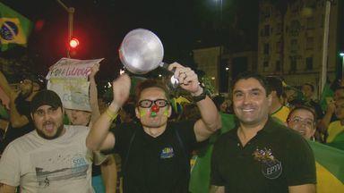 Moradores de Campinas e região fazem novo protesto contra Governo Federal - As pessoas protestaram depois que o ex-presidente Lula foi nomeado Ministro Chefe da Casa Civil.