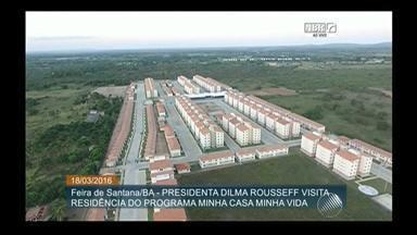 Presidente Dilma Rousseff participa da entrega de conjuntos residenciais em Feira - Ao todo, são 1650 unidades habitacionais; veja como foi a solenidade.