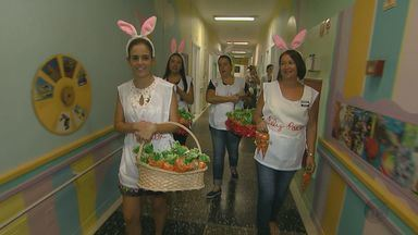 Trabalho voluntário leva alegria para crianças de hospital de Campinas - Brincadeira, alegria e diversão para todo mundo. Isso tudo é encontrado em um hospital de Campinas durante um trabalho de humanização.
