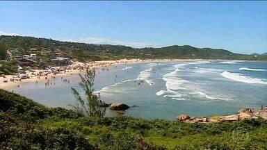 Águas geladas em sol escaldante são atração à parte de praias de Santa Catarina - A regiào atrai pela limpeza das praias, pela vegetação nativa e pra uma paisagem inesquecível. A água do mar gelada, mesmo em dias de sol, chama a atenção dos turistas.