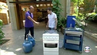 Engenheiro mostra os cuidados para evitar vazamento de gás - Nesta semana, uma explosão de gás matou 5 pessoas no subúrbio do Rio de Janeiro. Especialista ensina a fazer a troca de butijão com segurança