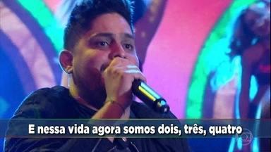 Jorge & Mateus cantam hit 'Sosseguei' - Música romântica embala o 'Domingão'