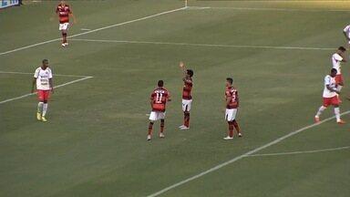 O gol de Atlético-GO 1 x 0 Anapolina pela 15ª rodada do Campeonato Goiano - Magno Cruz marca e decreta vitória do Dragão sobre a Xata, que está rebaixada.
