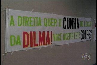 Manifestantes a favor da presidente Dilma Rousseff realizaram ato em Petrolina - No encontro eles falaram sobre a permanência de Dilma Rousseff na presidência do Brasil.