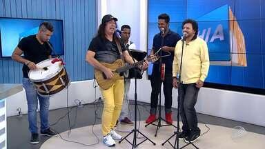 Forrozeiros Zelito Miranda e Jorge de Altinho são os convidados no estúdio do BMD - Confira algumas das novidades dos artistas que fazem show juntos em Salvador.