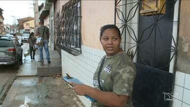 Agentes de endemias realizam fiscalização contra Aedes no bairro Coroadinho, em São Luís - Agentes de endemias realizam fiscalização no bairro Coroadinho, em São Luís.