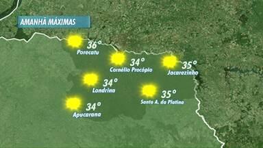 Fim de semana será de calor na região norte do estado durante o fim de semana - Temperaturas podem chegar a 36 graus.