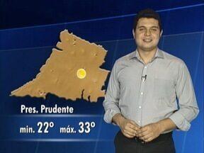 Confira as temperaturas para este sábado na região de Presidente Prudente - Tiago Rodrigues traz a previsão do tempo.