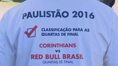 RB Brasil enfrenta Corinthians pelas quartas de final do Paulistão - Partida acontece neste sábado (16), às 16h20.