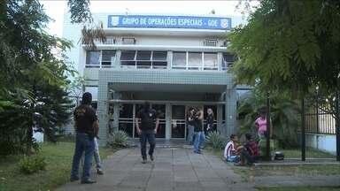 Detentos que atuaram em fugas em massa estão na mira de operação - Operação Mangue Vermelho foi realizada em quatro cidades do Grande Recife.