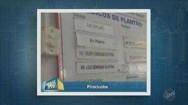 Pacientes reclamam da falta de médicos no pronto socorro do Piracicamirim, em Piracicaba - Um telespectador enviou imagens para a EPTV, afiliada da TV Globo.