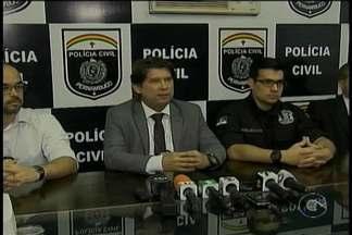 Polícia apresenta os detalhes do assassinato do jornalista Marcolino Júnior, em Caruaru - O corpo dele foi encontrado na última segunda-feira, em um matagal no município de Sairé.