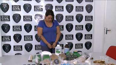 Mulher é presa por tráfico de drogas em São Luís - Mulher é presa por tráfico de drogas em São Luís