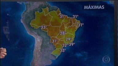 Feriadão terá sol e calor em grande parte do país - Diversas regiões estão níveis de umidade do ar muito baixos. A previsão é de chuva somente nos extremos sul e norte do Brasil.