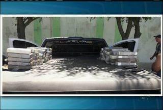 Homem é preso ao entrar no Ceará com 80 quilos de pasta de cocaína - Droga estava escondida na lataria de uma caminhonete.
