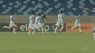 Nacional perde para o Dom Bosco-MT e se complica na Copa do Brasil - Time amazonense perdeu por 2 a 0. Atacante Rodrigo Dantas ainda teve um pênalti defendido.