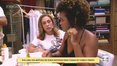 Eva Lima dá dicas de cuidados para cabelos crespos - 'É de casa' ensina você a identificar seu tipo de cabelo