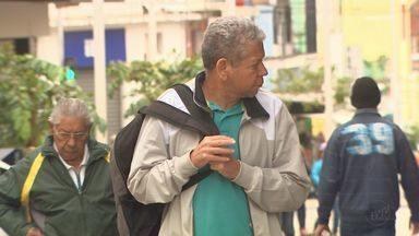 Frente fria faz temperatura despencar em Ribeirão Preto nesta quarta-feira - A previsão é de chuva a qualquer hora do dia. Temperatura máxima deve ficar em 20 graus.