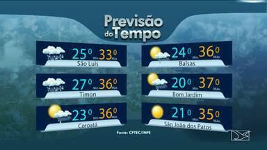 Veja como fica a previsão do tempo para esta quarta-feira (27) no Maranhão - Veja como fica a previsão do tempo para esta quarta-feira (27) no Maranhão.