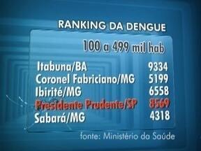 Presidente Prudente continua em destaque no ranking sobre a dengue - Levantamento é feito pelo Ministério da Saúde.