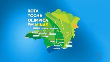 Confira o caminho que a Tocha Olímpica percorrerá em Minas Gerais - Passagem do símbolo olímpico pelo estado começa em 7 de maio.