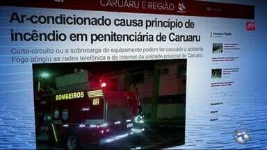 Ar-condicionado causa princípio de incêndio em penitenciária de Caruaru - Curto-circuito ou a sobrecarga do equipamento podem ter causado o acidente.