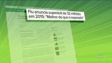 Fluminense anuncia superávit de R$ 32 milhões em 2015 - Equipe carioca apresenta bom rendimento e treina para partida da Copa do Brasil
