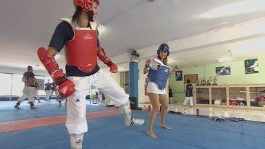 Kelly Maria acompanha a rotina da atleta Júlia Vasconcellos - Atleta de Taekwondo, de São José dos Campos, representará o Brasil nas Olimpíadas.