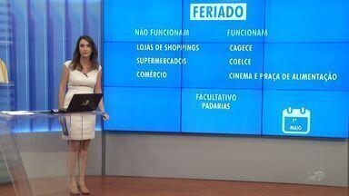 Veja o que abre e o que fecha no feriado de 1º de maio em Fortaleza - Shoppings e supermercados estarão fechados no domingo (1º).