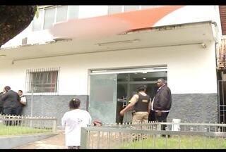 Assaltante é baleado durante tentativa de roubo a banco em Sobrália - Homem, que foi baleado na cabeça, portava uma submetralhadora.