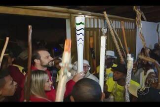 Grupos de congado em Uberlândia ensaiam apresentação para receber Tocha - Com réplica do símbolo olímpico, eles ensaiam apresentação que vão fazer no próximo sábado (7).